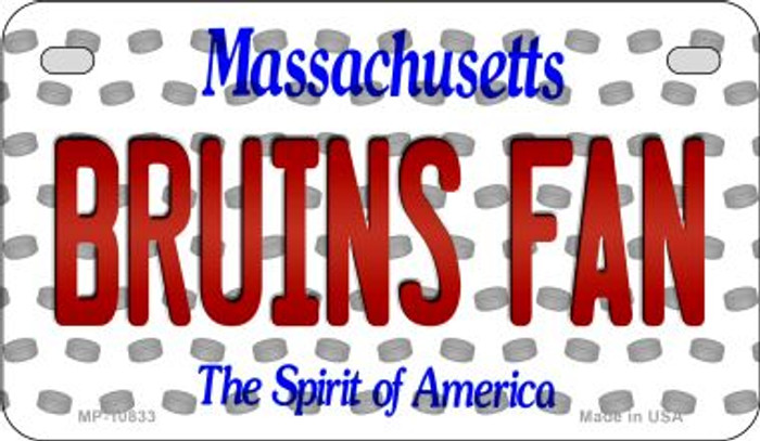 Bruins Fan Massachusetts Novelty Metal Motorcycle Plate MP-10833