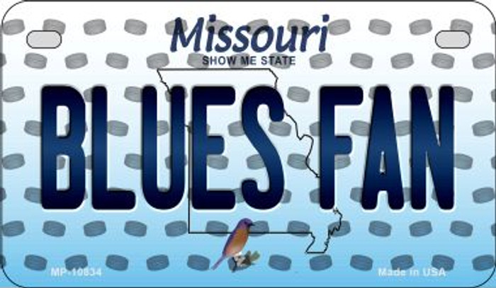 Blues Fan Missouri Novelty Metal Motorcycle Plate MP-10834