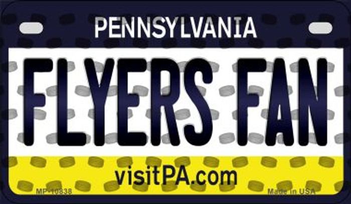 Flyers Fan Pennsylvania Novelty Metal Motorcycle Plate MP-10838