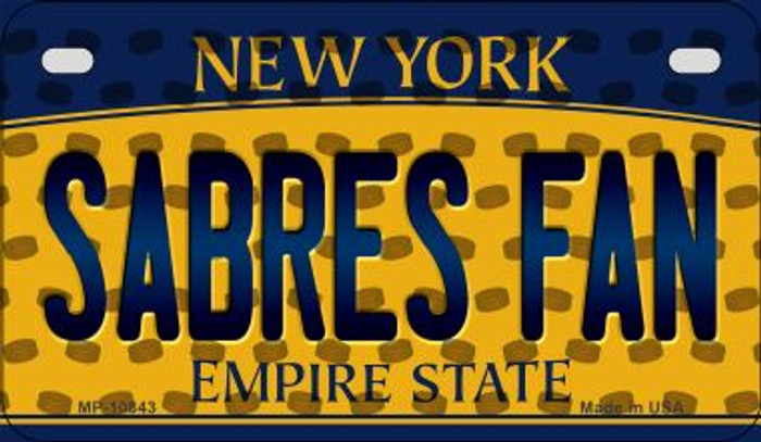 Sabres Fan New York Novelty Metal Motorcycle Plate MP-10843