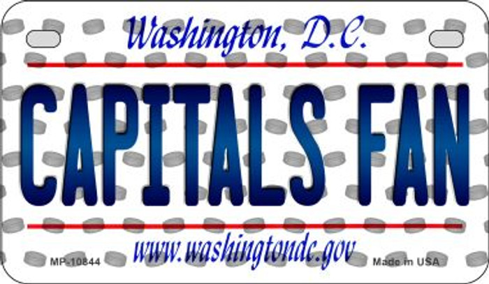 Capitals Fan Washington DC Novelty Metal Motorcycle Plate MP-10844