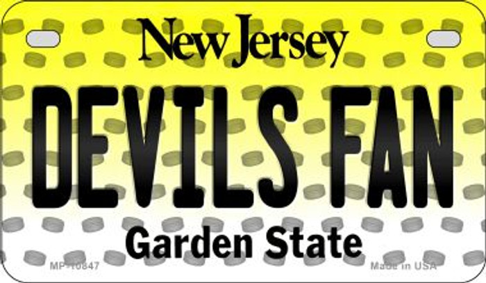 Devils Fan New Jersey Novelty Metal Motorcycle Plate MP-10847
