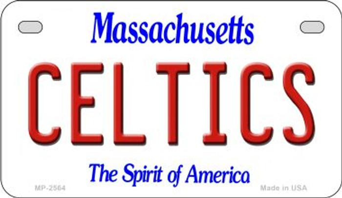 Celtics Massachusetts Novelty Metal Motorcycle Plate MP-2564