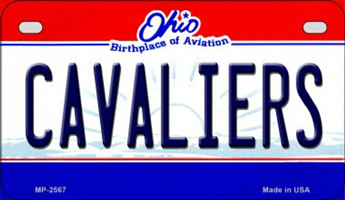 Cavaliers Ohio Novelty Metal Motorcycle Plate MP-2567