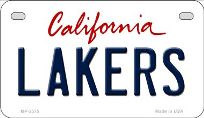 Lakers California Novelty Metal Motorcycle Plate MP-2575