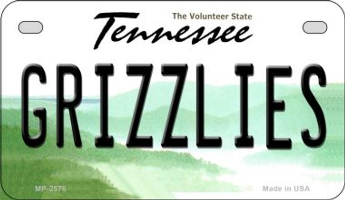 Grizzlies Tennessee Novelty Metal Motorcycle Plate MP-2576