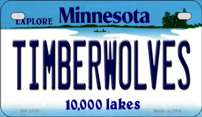 Timberwolves Minnesota Novelty Metal Motorcycle Plate MP-2579