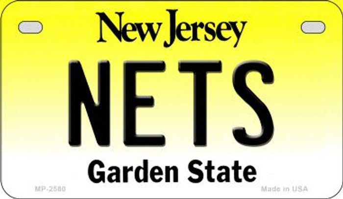 Nets New Jersey Novelty Metal Motorcycle Plate MP-2580