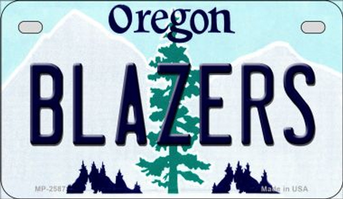 Blazers Oregon Novelty Metal Motorcycle Plate MP-2587