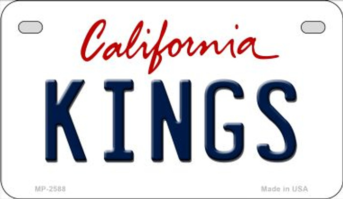 Kings California Novelty Metal Motorcycle Plate MP-2588