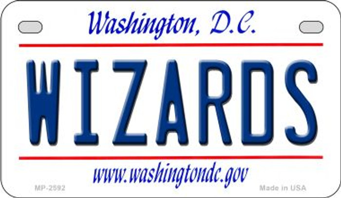 Wizards Washington DC Novelty Metal Motorcycle Plate MP-2592