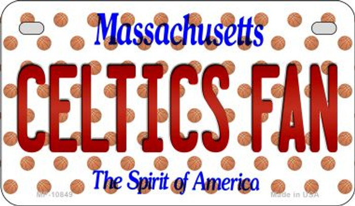 Celtics Fan Massachusetts Novelty Metal Motorcycle Plate MP-10849