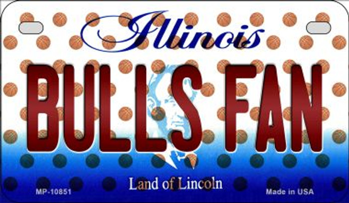 Bulls Fan Illinois Novelty Metal Motorcycle Plate MP-10851