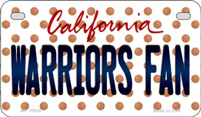 Warriors Fan California Novelty Metal Motorcycle Plate MP-10856