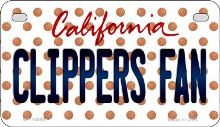 Clippers Fan California Novelty Metal Motorcycle Plate MP-10859