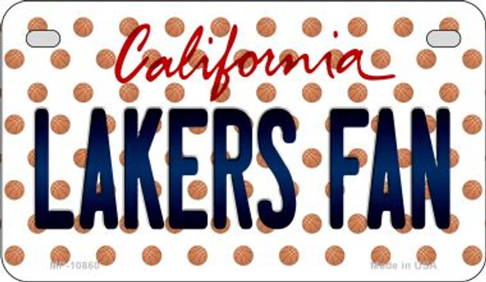Lakers Fan California Novelty Metal Motorcycle Plate MP-10860