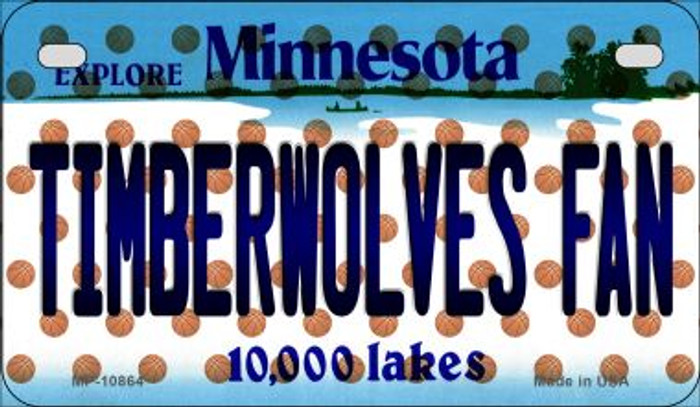 Timberwolves Fan Minnesota Novelty Metal Motorcycle Plate MP-10864