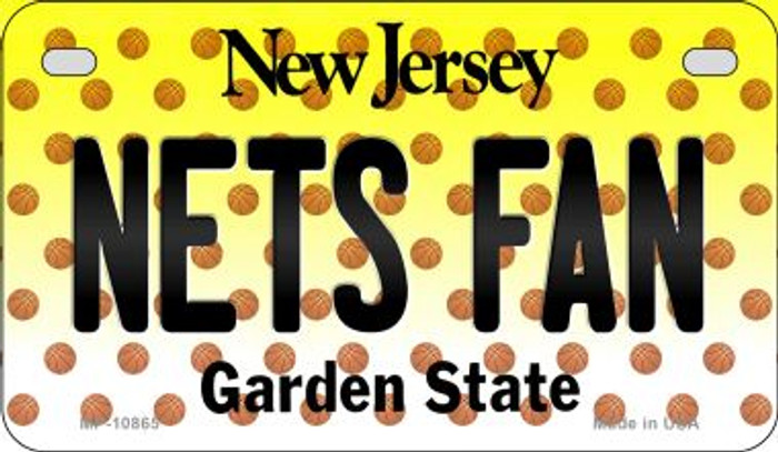 Nets Fan New Jersey Novelty Metal Motorcycle Plate MP-10865