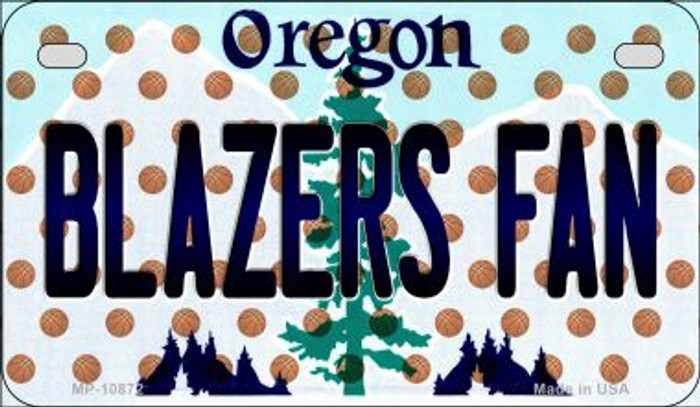 Blazers Fan Oregon Novelty Metal Motorcycle Plate MP-10872