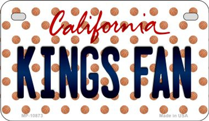 Kings Fan California Novelty Metal Motorcycle Plate MP-10873