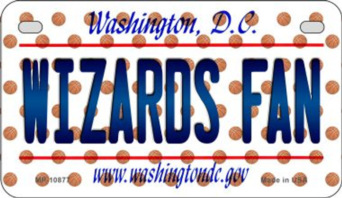 Wizards Fan Washington DC Novelty Metal Motorcycle Plate MP-10877