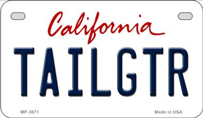 Tailgtr California Novelty Metal Motorcycle Plate MP-3671