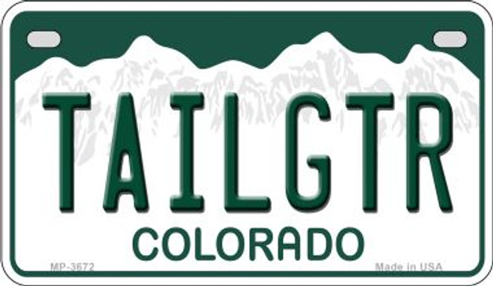 Tailgtr Colorado Novelty Metal Motorcycle Plate MP-3672