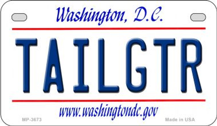 Tailgtr Washington DC Novelty Metal Motorcycle Plate MP-3673