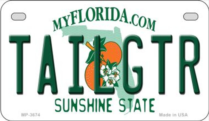 Tailgtr Florida Novelty Metal Motorcycle Plate MP-3674