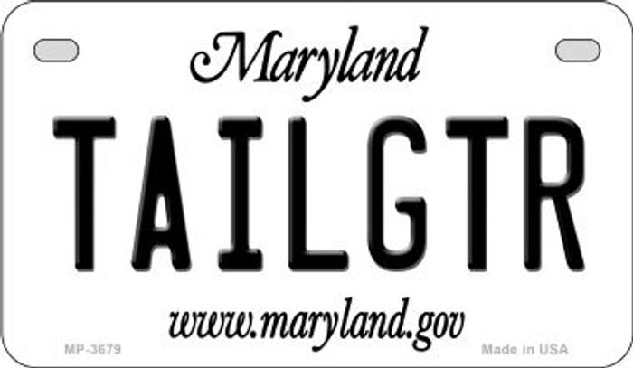 Tailgtr Maryland Novelty Metal Motorcycle Plate MP-3679