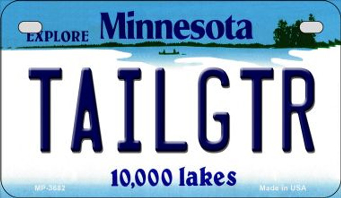 Tailgtr Minnesota Novelty Metal Motorcycle Plate MP-3682