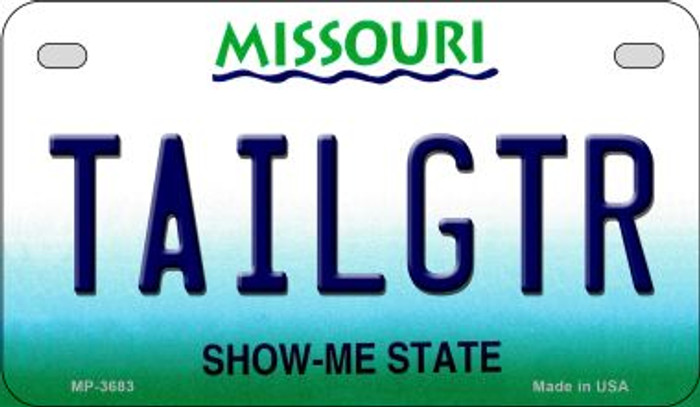 Tailgtr Missouri Novelty Metal Motorcycle Plate MP-3683