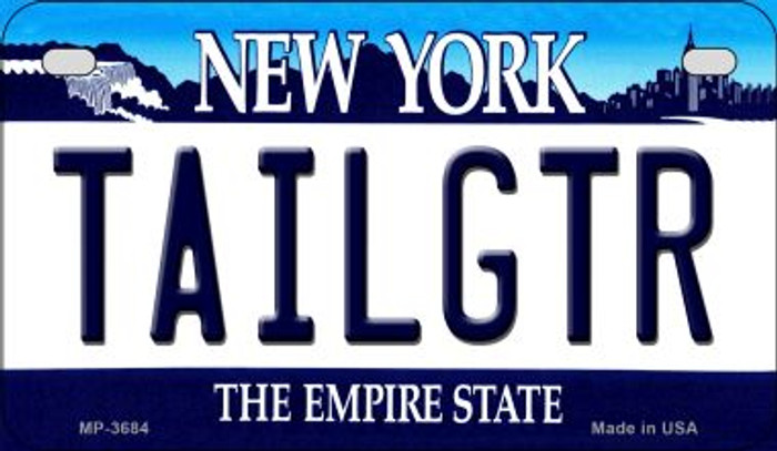 Tailgtr New York Novelty Metal Motorcycle Plate MP-3684