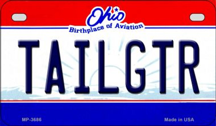 Tailgtr Ohio Novelty Metal Motorcycle Plate MP-3686