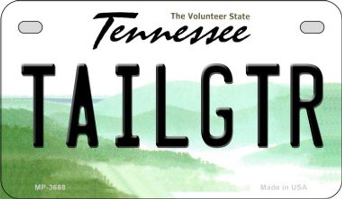 Tailgtr Tennessee Novelty Metal Motorcycle Plate MP-3688