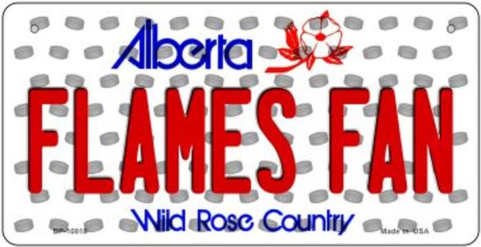 Flames Fan Alberta Novelty Metal Bicycle Plate BP-10818