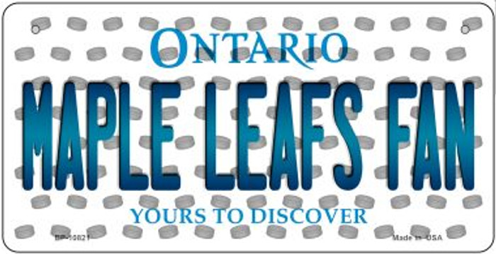 Maple Leafs Fan Ontario Novelty Metal Bicycle Plate BP-10821