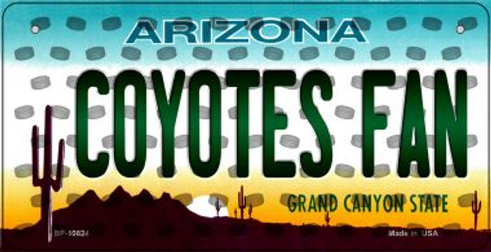Coyotes Fan Arizona Novelty Metal Bicycle Plate BP-10824