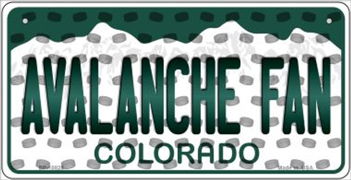 Avalanche Fan Colorado Novelty Metal Bicycle Plate BP-10828