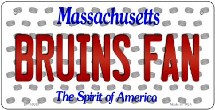 Bruins Fan Massachusetts Novelty Metal Bicycle Plate BP-10833