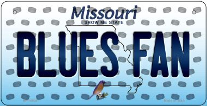 Blues Fan Missouri Novelty Metal Bicycle Plate BP-10834
