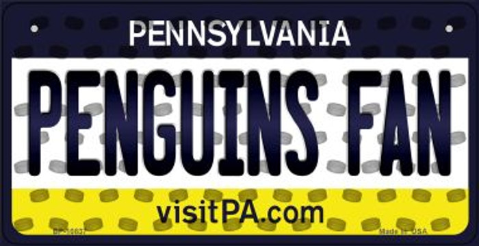 Penguins Fan Pennsylvania Novelty Metal Bicycle Plate BP-10837