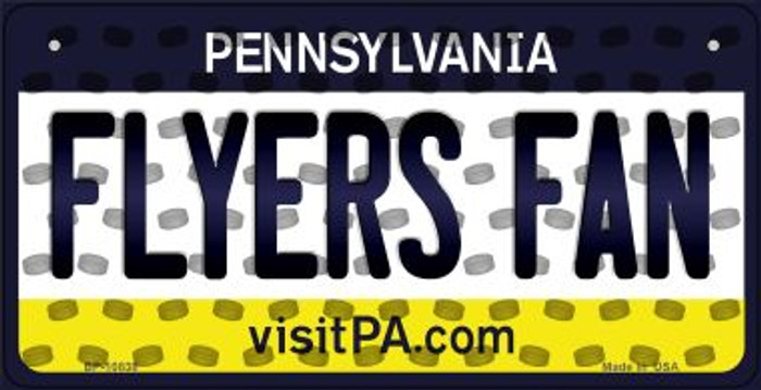 Flyers Fan Pennsylvania Novelty Metal Bicycle Plate BP-10838