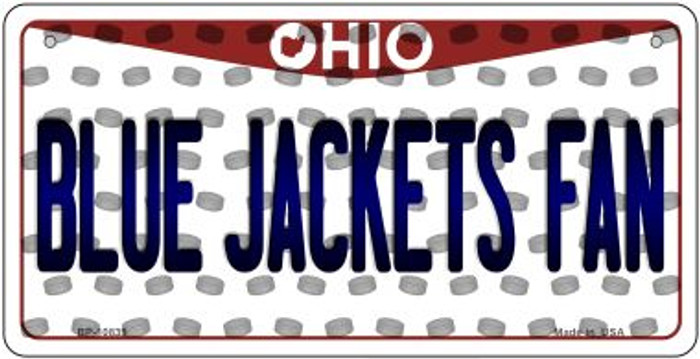 Blue Jackets Fan Ohio Novelty Metal Bicycle Plate BP-10839