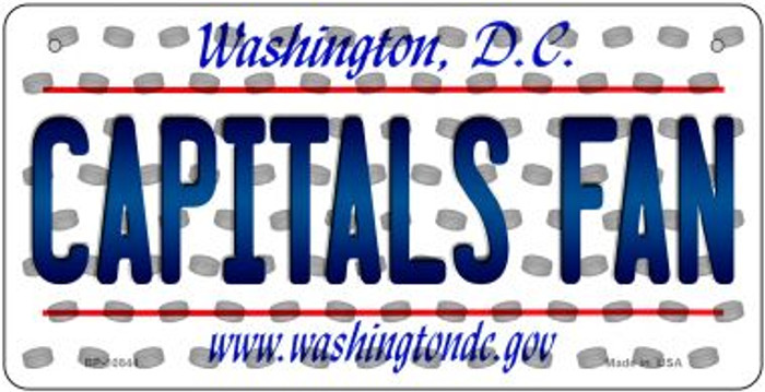 Capitals Fan Washington DC Novelty Metal Bicycle Plate BP-10844