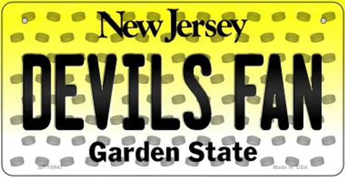 Devils Fan New Jersey Novelty Metal Bicycle Plate BP-10847