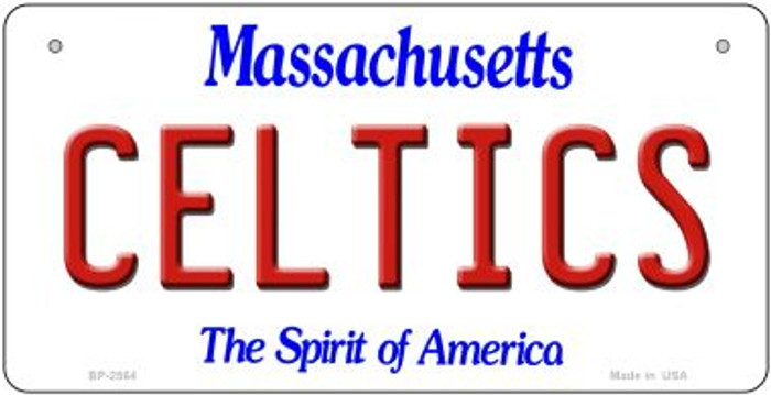 Celtics Massachusetts Novelty Metal Bicycle Plate BP-2564
