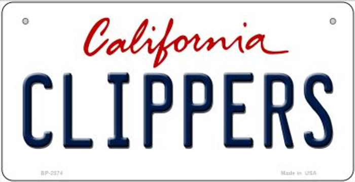 Clippers California Novelty Metal Bicycle Plate BP-2574