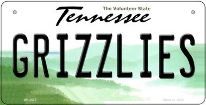 Grizzlies Tennessee Novelty Metal Bicycle Plate BP-2576