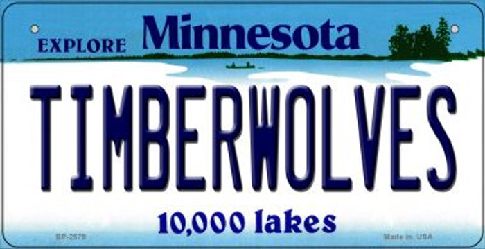 Timberwolves Minnesota Novelty Metal Bicycle Plate BP-2579